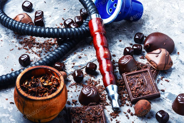 Tobacco hookah with chocolate flavor