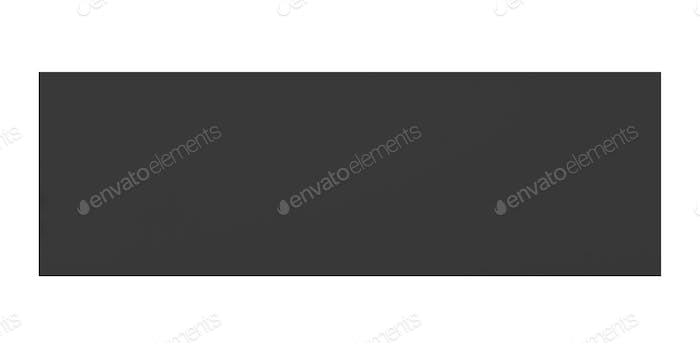 Black paper isolated on white
