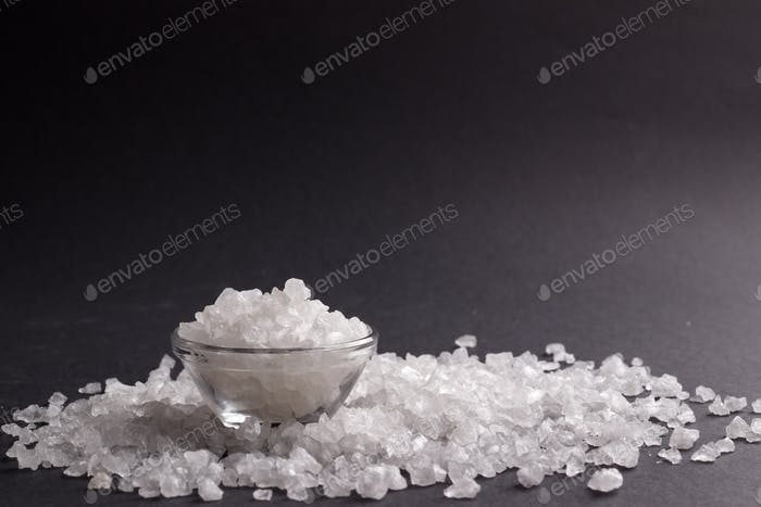 white salt crystals