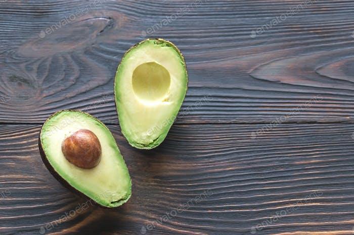 Halbierte Avocado