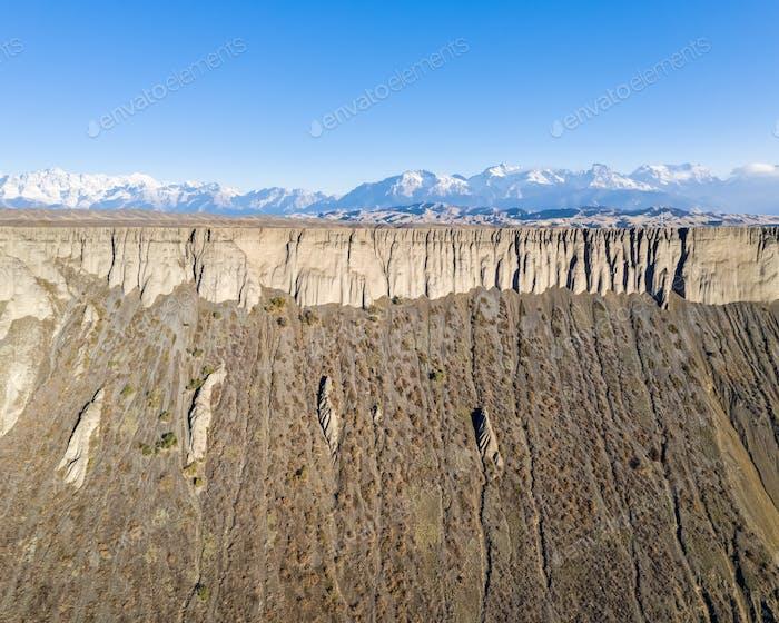 canyon scenery in xinjiang