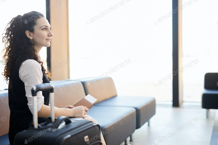 Inspired Traveller in Airport