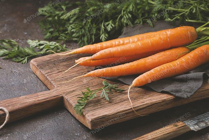 Frische und süße Karotte