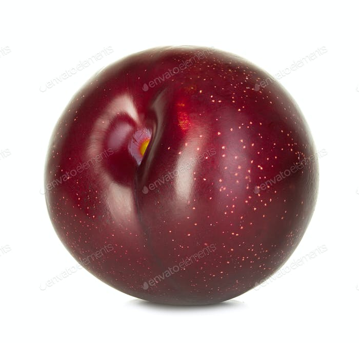 plum isolated on a white backgroun