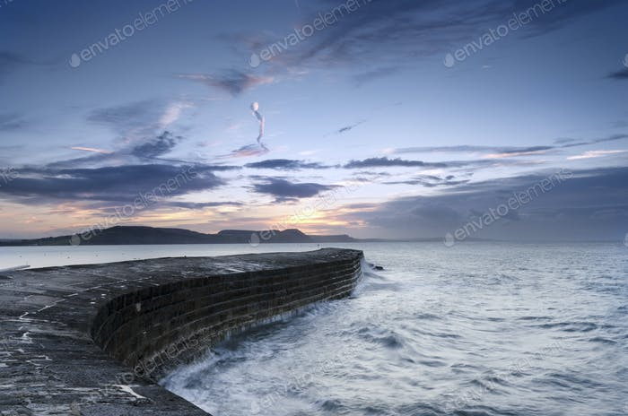 Sunrise at The Cobb in Lyme Regis