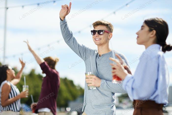 Guy dancing