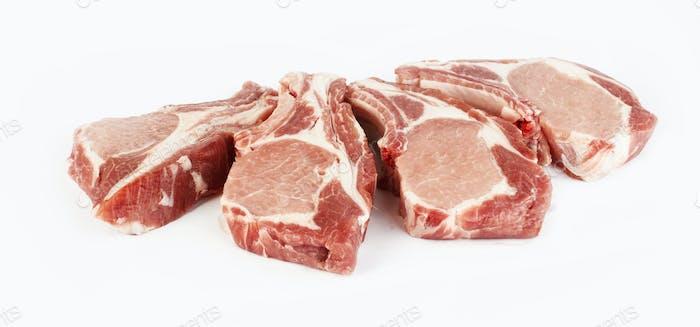rohes Schweinefleisch