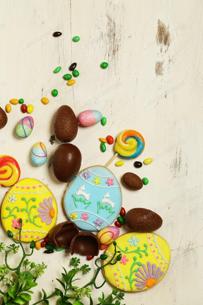 Schokoladeneier für Osterdekoration
