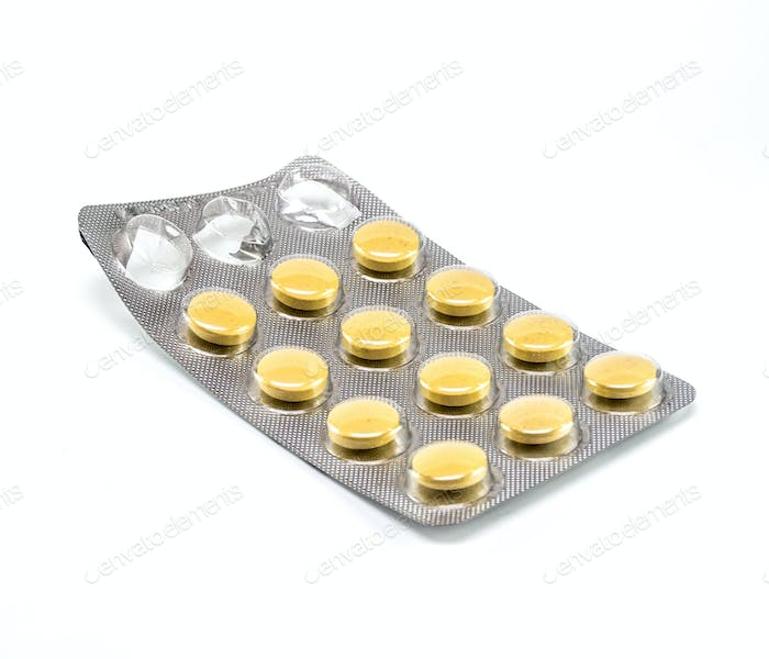 Opened packing tablets