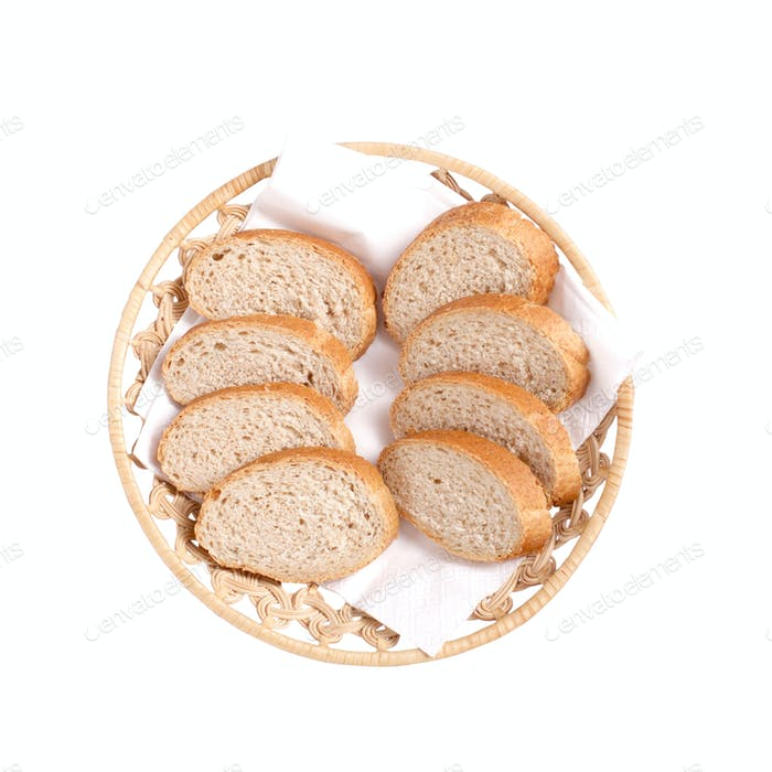 bread on plate