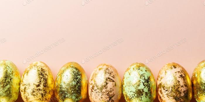 Natural Golden Speckled Easter Eggs