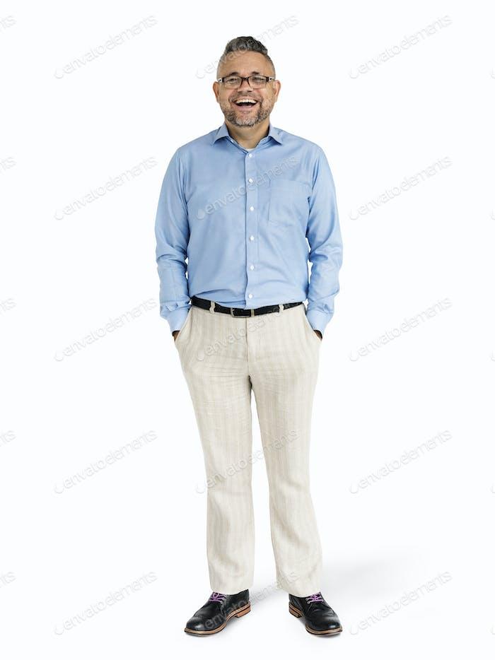 Caucasian man standing mockup