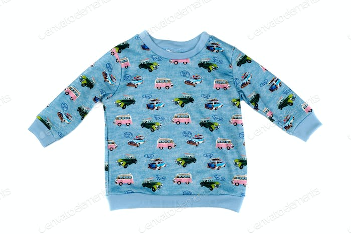 Blue children's sweatshirt