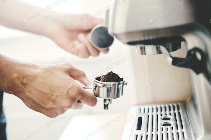 Cocinar café con café automático