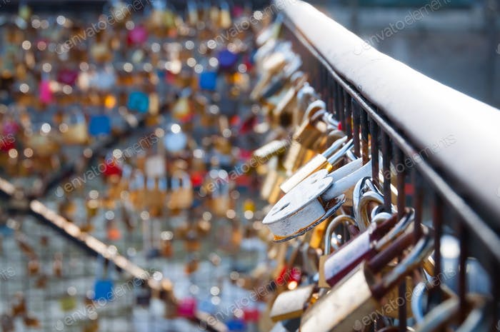 Thumbnail for Love lock on a bridge in Paris