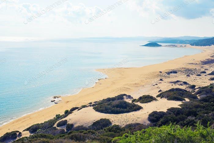 Draufsicht von Turtle Beach Karpaz, Nordzypern