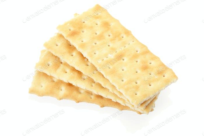 Cracker auf weiß