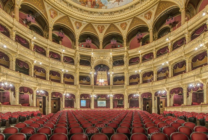 54774,Interior of Hungarian State Opera House, Budapest, Hungary
