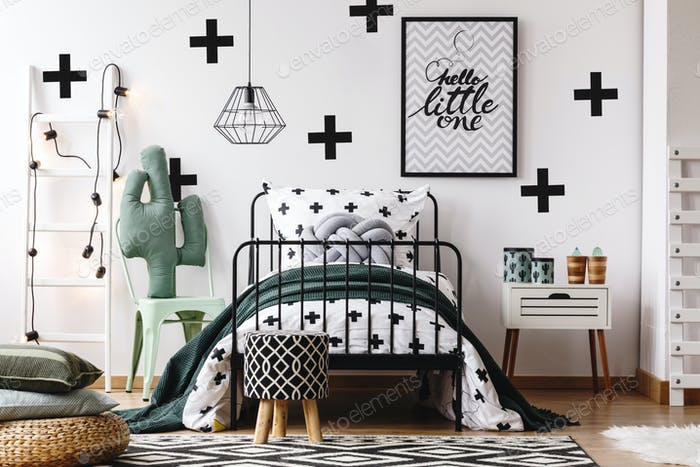 Kids bedroom with accessories
