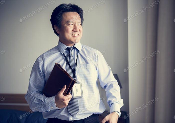A businessman ready to go to work
