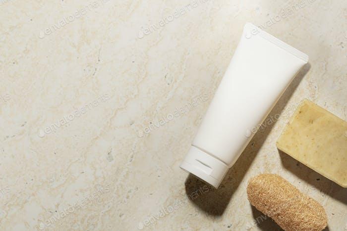Aesthetic spa essentials background, home decor