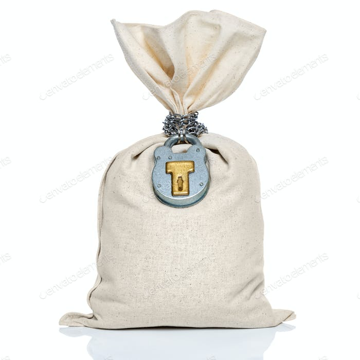 Money bag with padlock