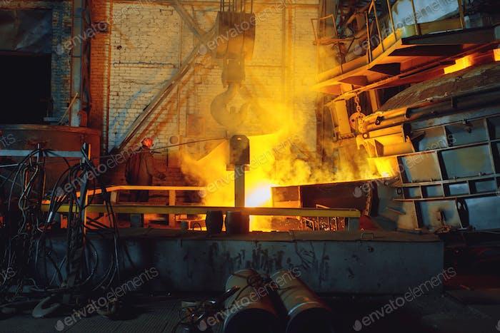 Stahlfabrik, Metallurgie oder Metallbearbeitungswerk