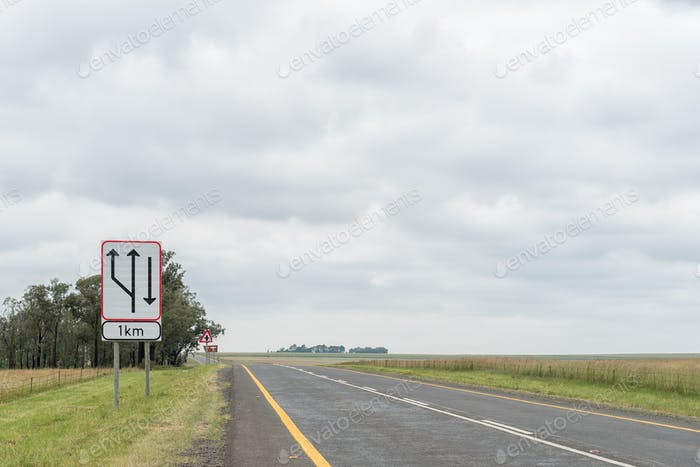 Start of dual carriageway road sign on road N5