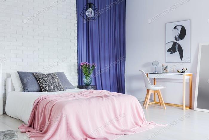 Pastell, Kontrast Schlafzimmer