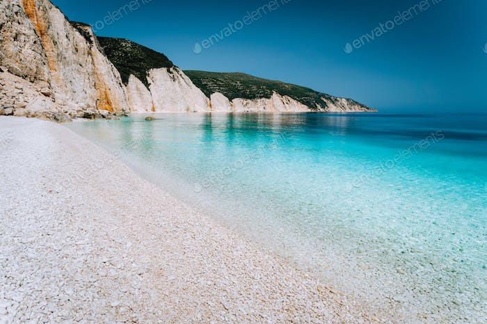 Beautiful pebble stone beach. Summer holiday and vacation concept for tourism. Inspirational
