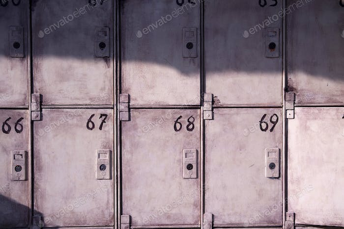 Old public lockers