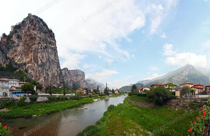 Panoramic view of Arco, Trentino, North-Italy