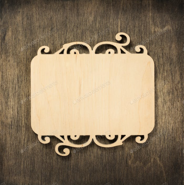 sign board at wooden background