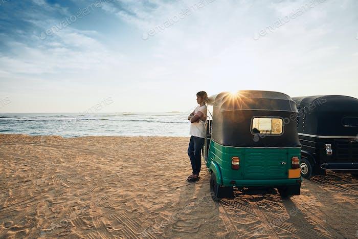 Tuk Tuk driver in Sri Lanka