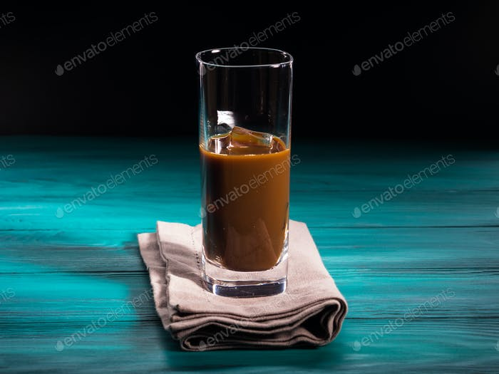 Glass of iced coffee drink