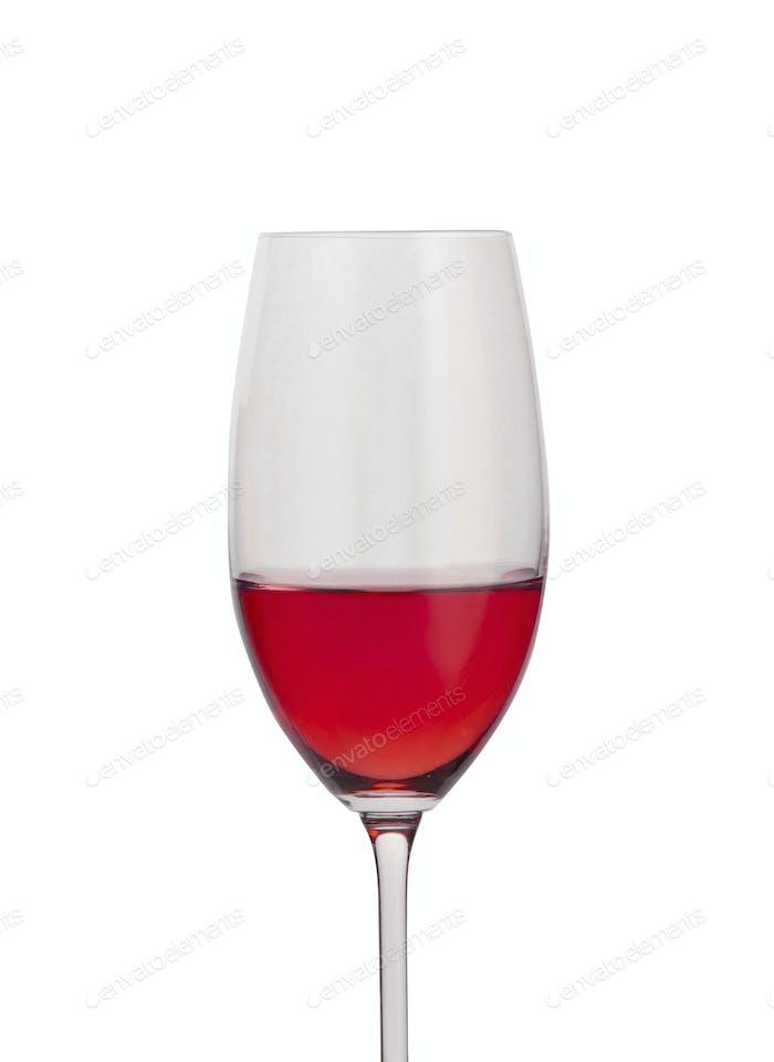 Rotwein in einem Glas isoliert