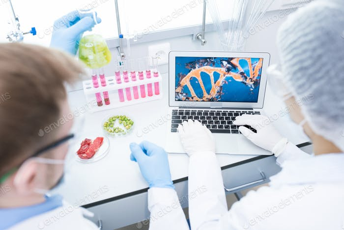 Thumbnail for Microbiologists studying DNA of food samples