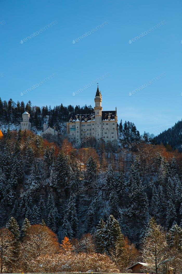 Neuschwanstein Castle in the winter, Bavaria, Germany