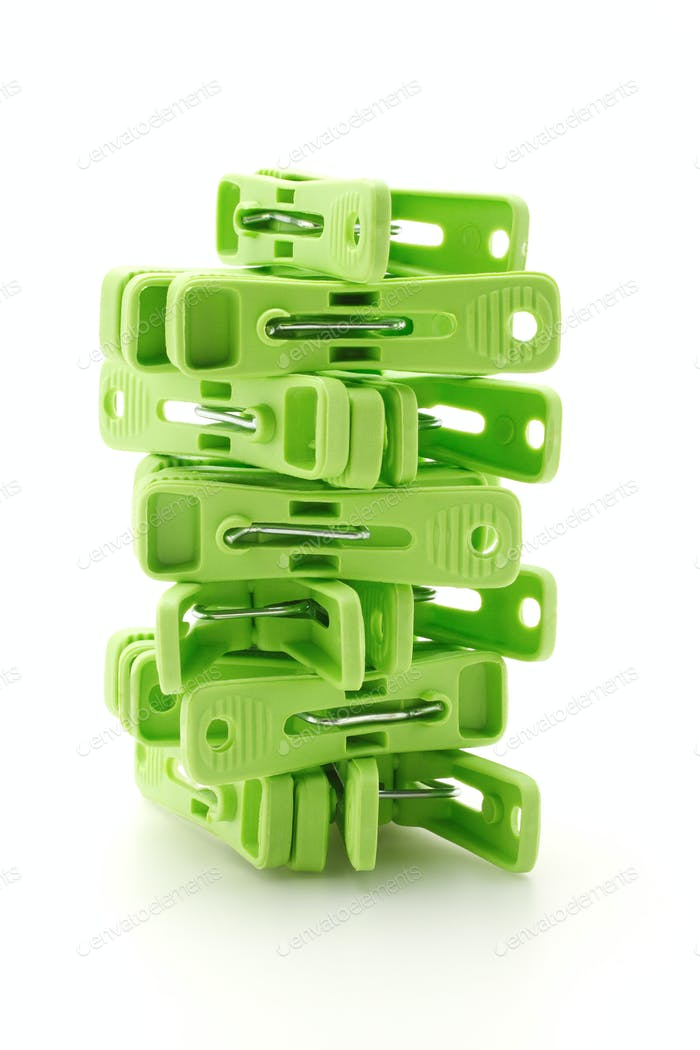 Plastic cloth pegs tower