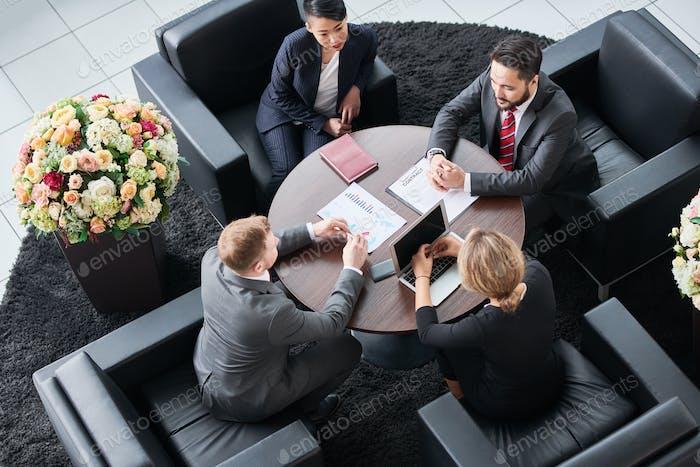 Teamwork at office