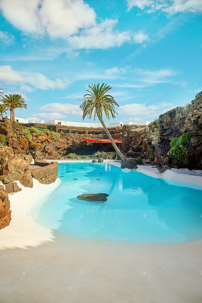 Jameos del Agua pool in Lanzarote