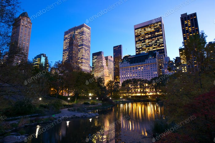 NYC Central Park at dusk