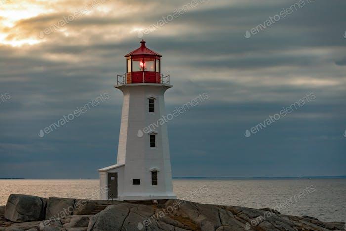 Travel destination Peggys Cove Lighthouse Nova Scotia Canada