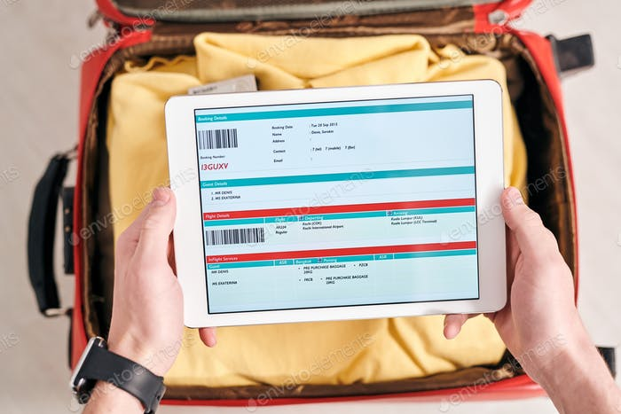 Checking booking details online