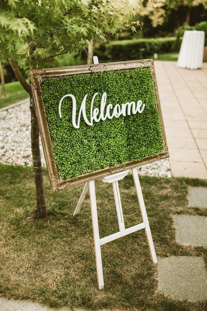 Willkommens-Zeichen