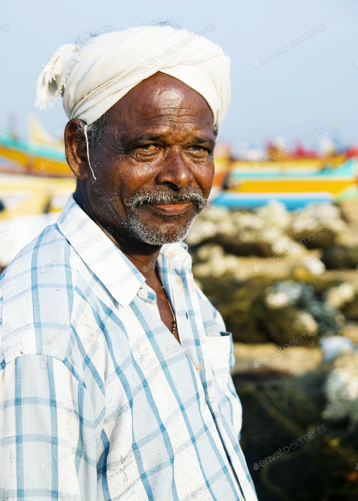 Indian Fisherman, Kerela, India