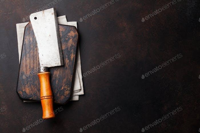 Butcher. Vintage meat knife