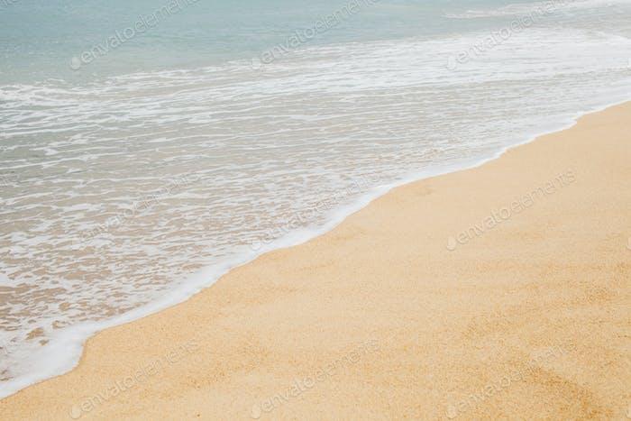 sand beach with sea wave