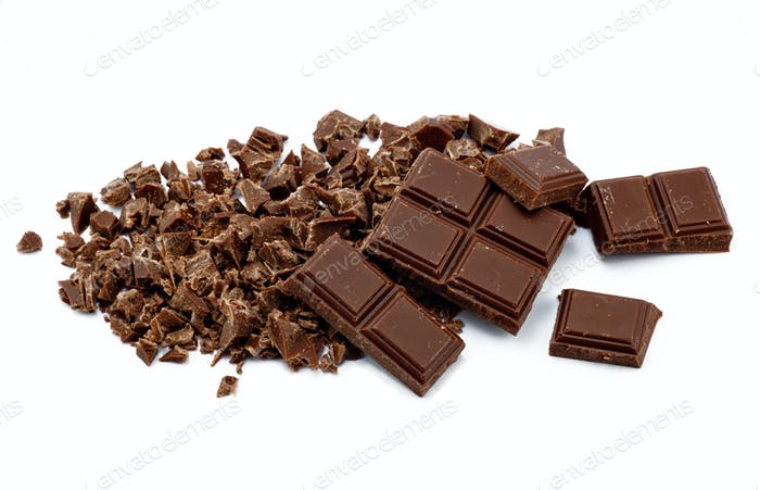 Crumbs of chocolate