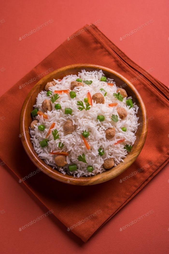 Soya Pulao / Soya Chunk Fried Rice